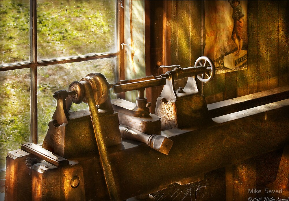 An Old Lathe by Michael Savad