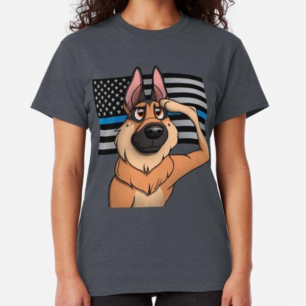 Tee Essential Novelty Proud German Shepherd Dad American Flag T Shirt Girls Tops Humor