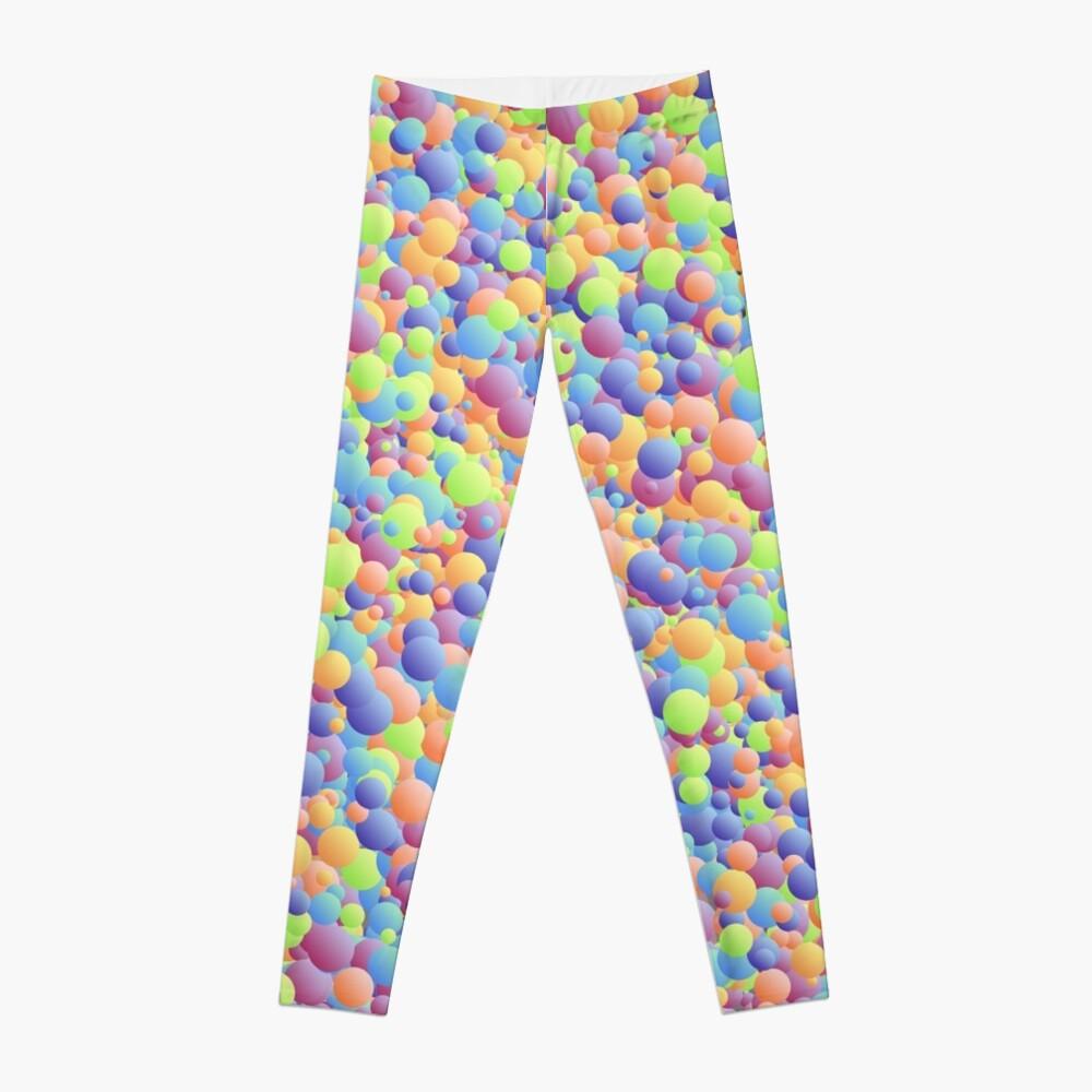 Multicoloured Micro Bubbles  Leggings Front
