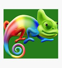 Rainbow Chameleon Photographic Print