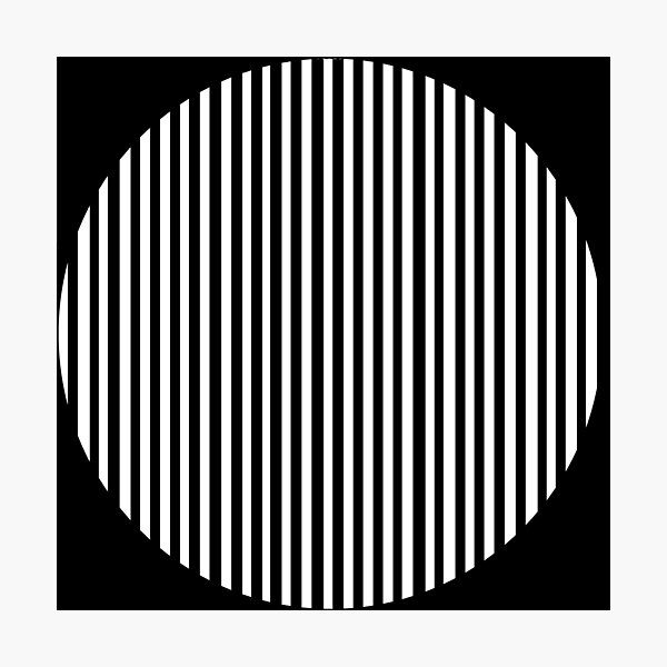 Black and white circles and stripes Photographic Print