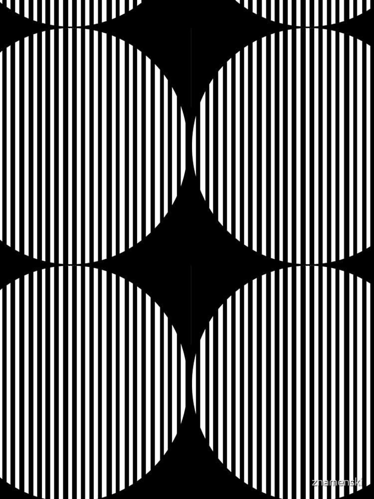 Black and white circles and stripes by znamenski