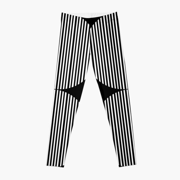 Black and white circles and stripes Leggings