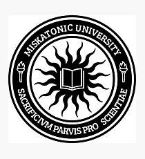 Miskatonic University Seal (Black) Photographic Print