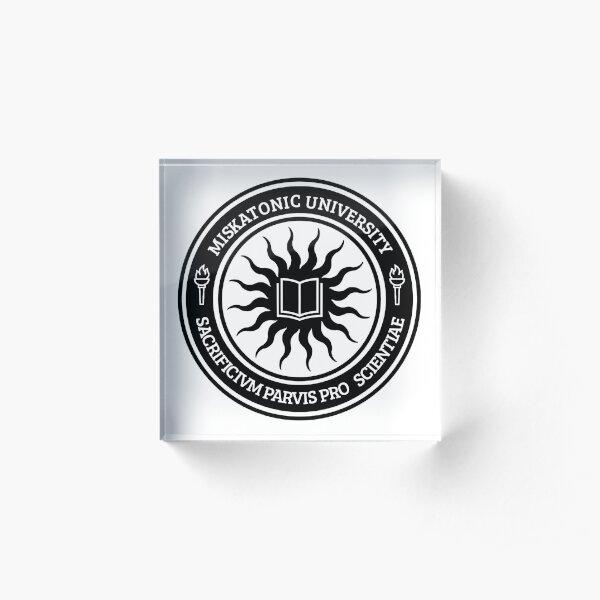 Miskatonic University Seal (Black) Acrylic Block