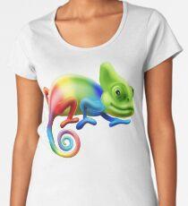 Rainbow Chameleon Women's Premium T-Shirt