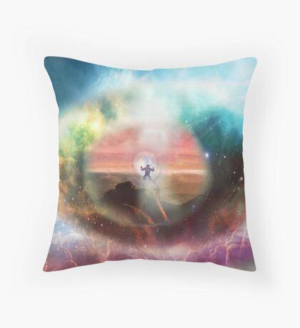 Through the Eye of God Throw Pillow