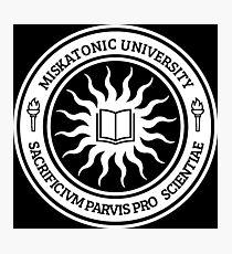 Miskatonic University Seal (White) Photographic Print