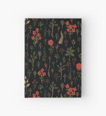 Cuaderno de tapa dura Estampado Floral / Botánico Verde, Rojo-Naranja y Negro