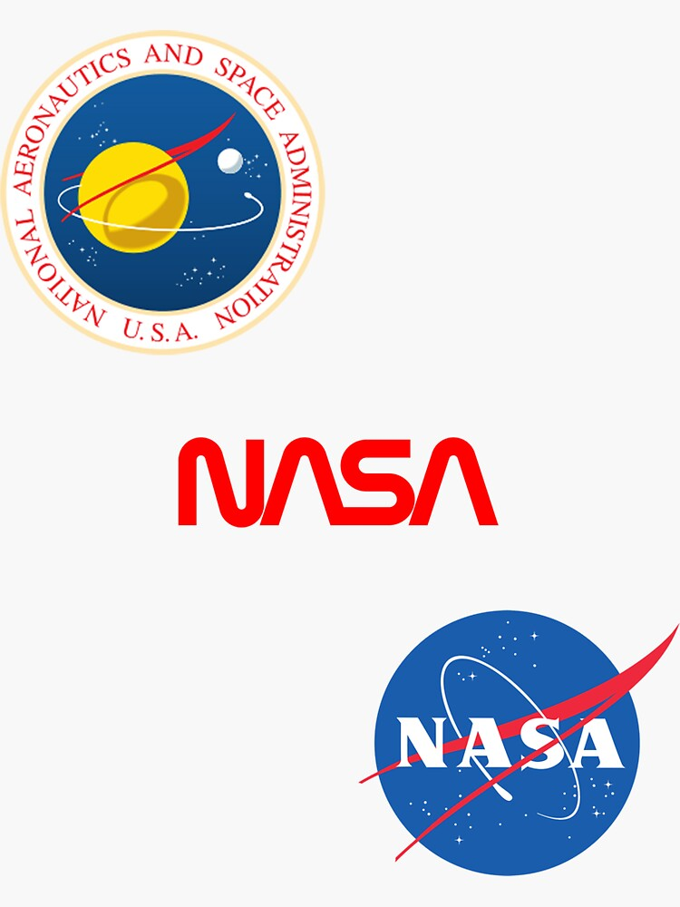 Three different official NASA logos by Val-Universe