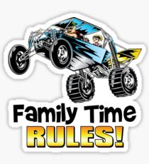 Dune Buggy Family Time Rules Sticker