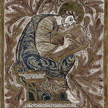 Medieval Design Portraying Saint Luke Writing on a Scroll by critterville