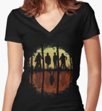 Friends Don't Lie -Eleven, Stranger Things Women's Fitted V-Neck T-Shirt