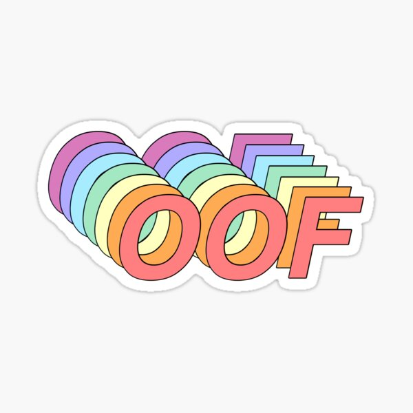 Oof Sticker