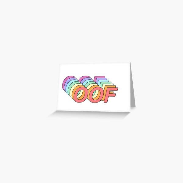Oof Greeting Card