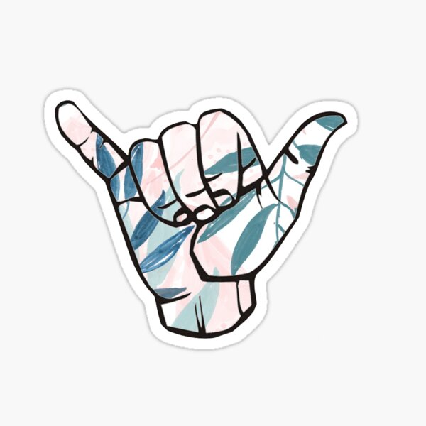 Hang Loose Palm Leaves Sticker