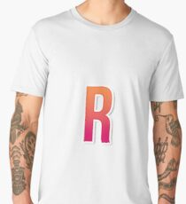 The Letter R Typography Sticker Men's Premium T-Shirt