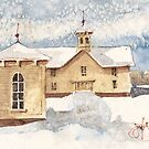 Berkshire House in Winter by JGFineArt