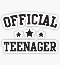 Official Teenager Sticker