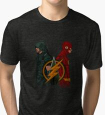 Green Arrow and The Flash Tri-blend T-Shirt