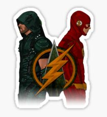 Green Arrow and The Flash Sticker