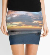 Sunset on an island in Maldives Mini Skirt