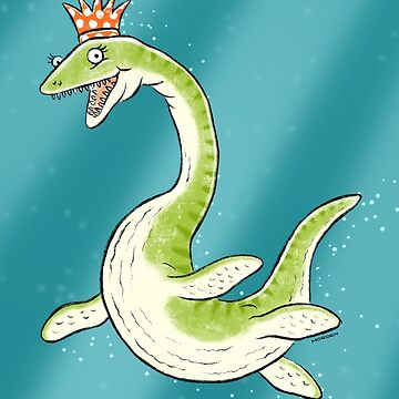 Plesiosaur in a party hat by morden