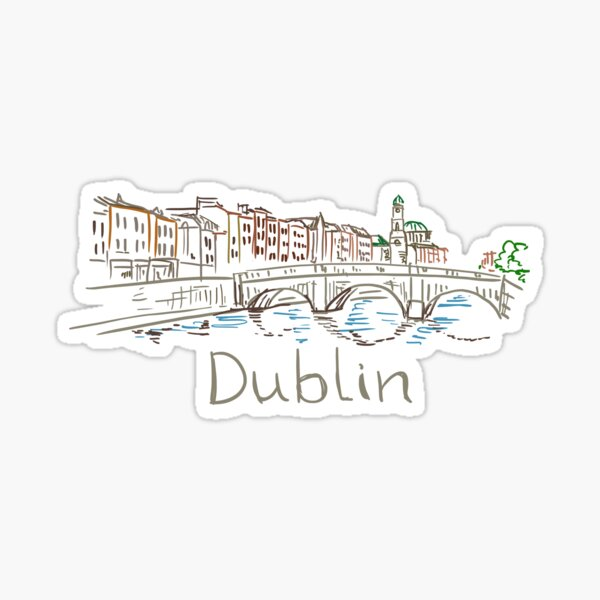 Dublin Panorama Sticker