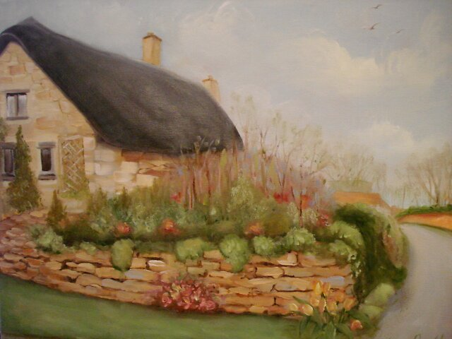 Thatched cottage by Cathy Amendola
