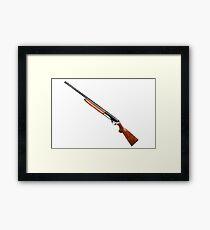 hunting shotgun isolated on white  Framed Print