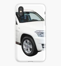 strong 4x4 suv car isolated on white  iPhone Case/Skin