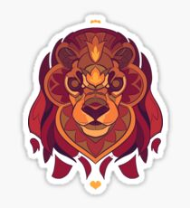 Fractured Lion Sticker