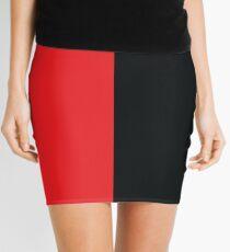 Red and Black Mini Skirt