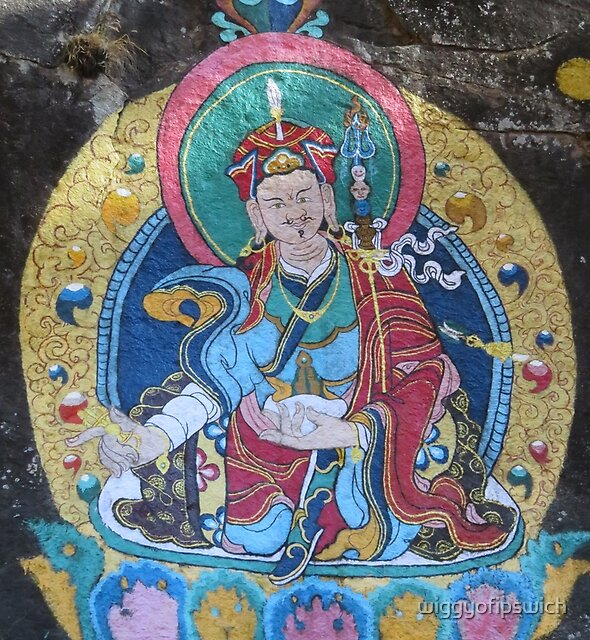 Religious Painting, Thame, Nepal by wiggyofipswich