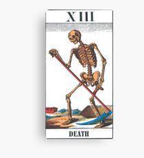 Death Tarot Card Canvas Print
