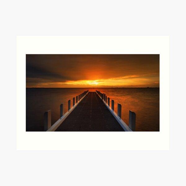 Sunset at North Road Jetty - Brighton Art Print