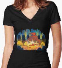 Dragon Hoard Women's Fitted V-Neck T-Shirt
