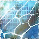 graffiti blue grid by BellaBark