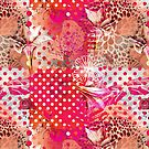 Pink Summer pattern by Ingrid Lill