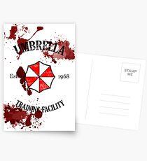Umbrella Training Facility Vintage Resident Evil Postcards