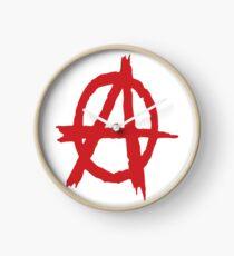 Anarchy Symbol Anarchism Symbol / Rejects Hierarchy Clock