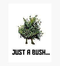 Fortnite Bush Photographic Print