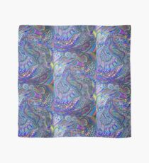 Psychedelic Unicorn Sharpie Marker Blue Rainbow Drawing Scarf