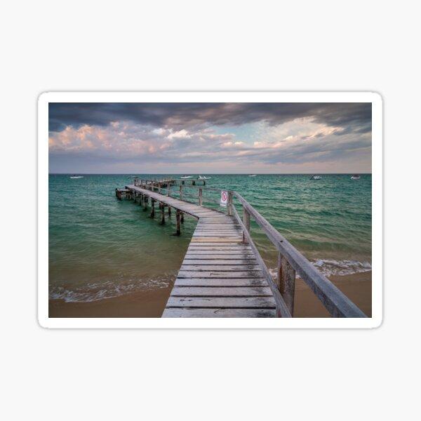 Shelley Beach Jetty, Portsea Sticker