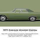 1971 Chrysler Newport Custom - Amber Sherwood Green by artbyedo