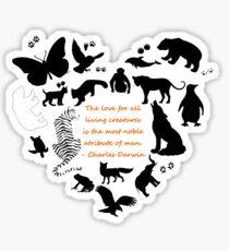 Love of the Animals Typography Sticker