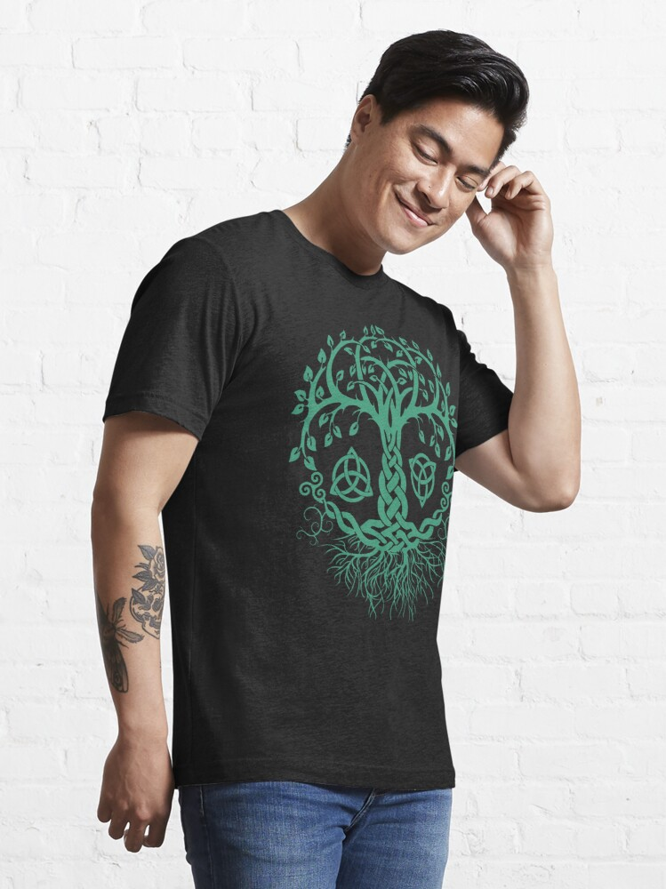 Alternate view of CELTIC TREE OF LIFE - PAGAN, VIKING, CELTIC AND DRUIDISM Essential T-Shirt