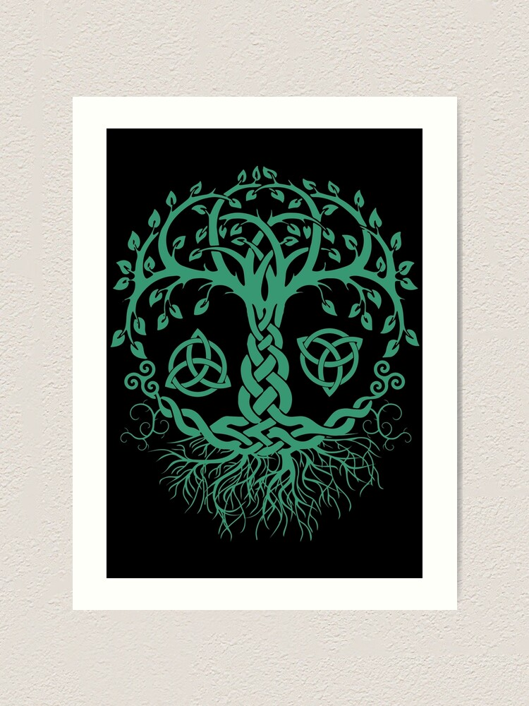 Celtic Tree Of Life Pagan Viking Celtic And Druidism Art Print By Shirtwreck Redbubble
