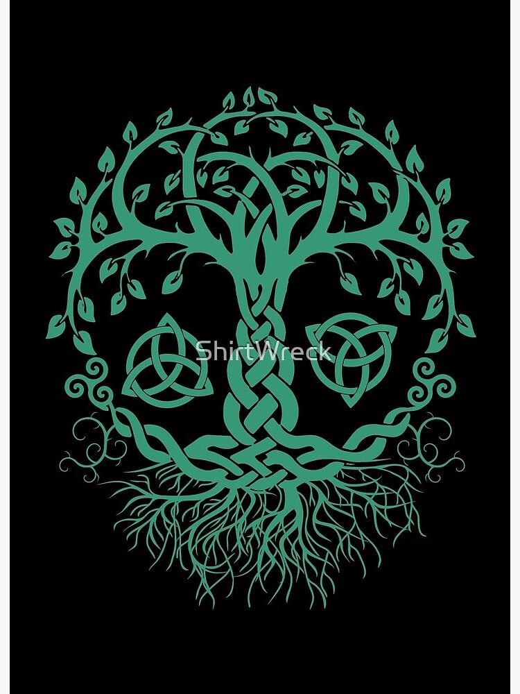Druid Wicca Pagan Celtic Spiral Tree Of Life Design Large Print Women/'s T-Shirt Dress