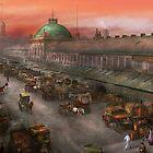 City - Boston Mass - Morning at the farmers market - 1904 by Michael Savad